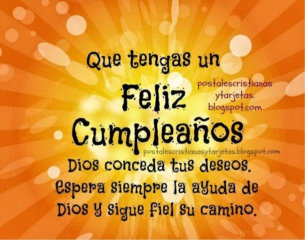 que tengas feliz cumpleaños Dios te ayude postales cristianas imagenes_Feliz dia