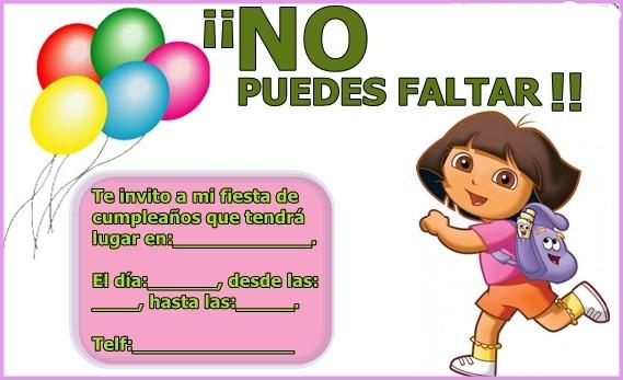 Invitacion Fiesta De Cumpleanos Infantil