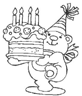 Feliz Cumpleaños Para Colorear Para Dedicar