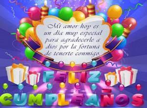 Feliz cumpleaño amor
