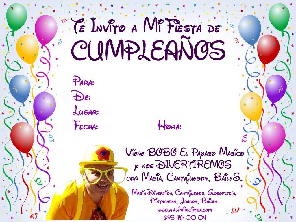 Imagenes de invitacion de cumpleaños