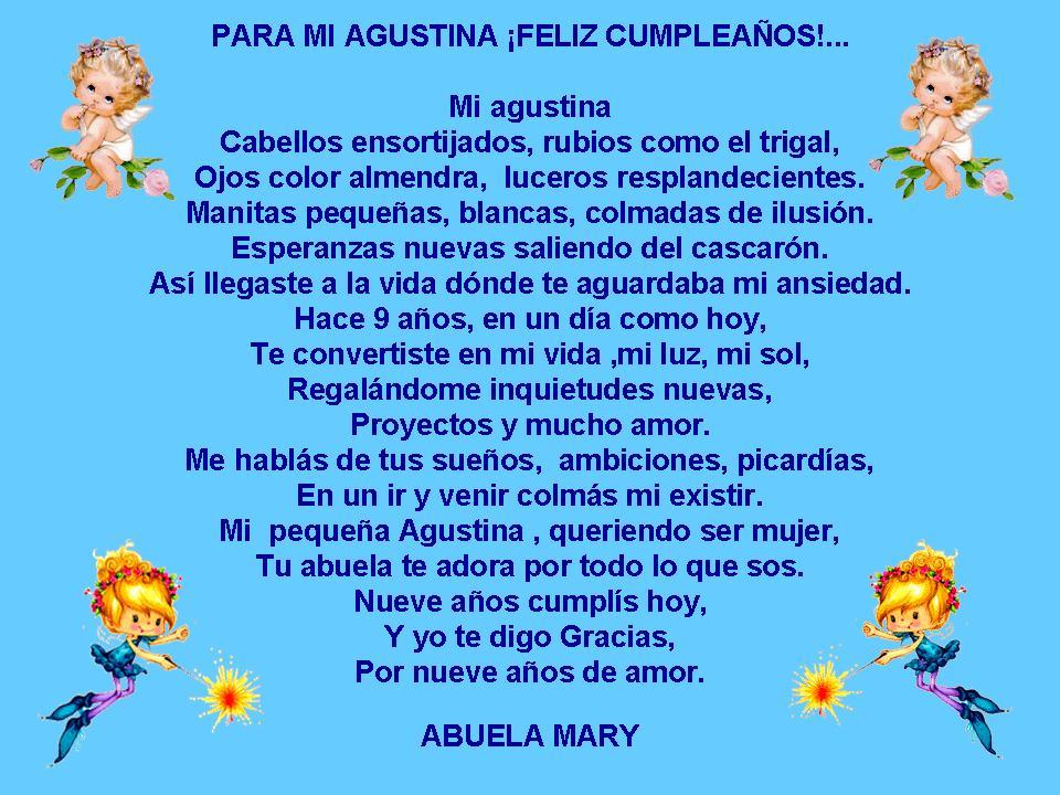 Poemas para abuelas en su cumpleaños.