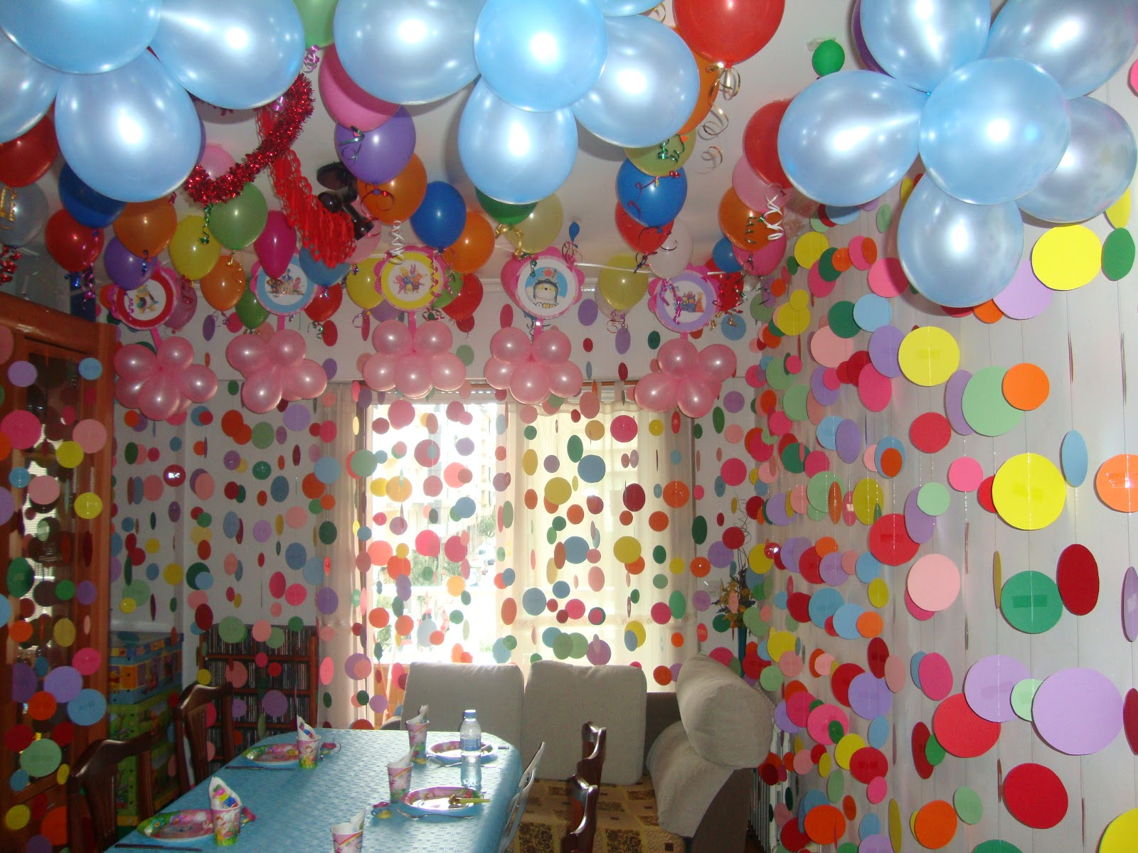 great cumpleaos de nia en casa imagenes with ideas para decorar cumpleaos infantil