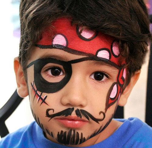 Pasos para pintar caras en un cumpleaños. imagenes