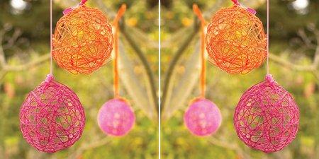 Adornos para decorar una fiesta infantil, globos de lana