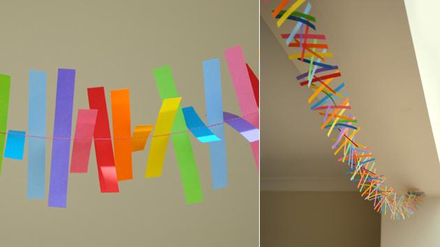 Como hacer guirnaldas de cumplea os - Como hacer cadenetas de papel para fiestas ...