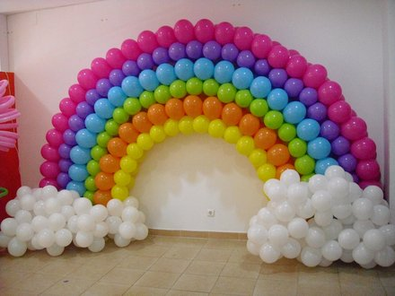 Decoraci n con globos soplados a mano - Como hacer decoracion con globos ...