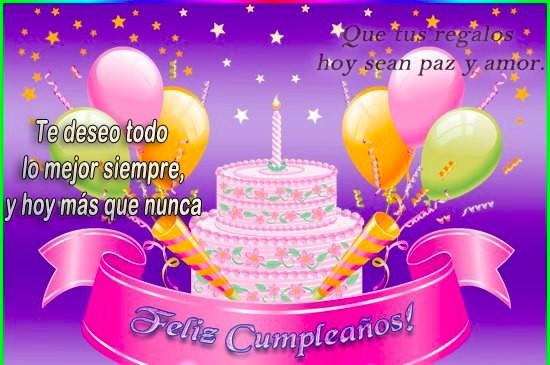Deseos de feliz cumpleaños