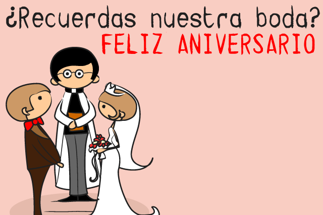 Feliz aniversario bodas