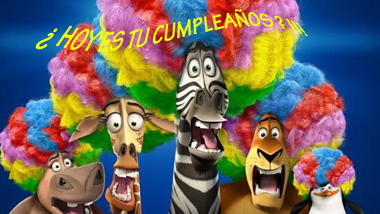 Feliz cumpleaños madagascar