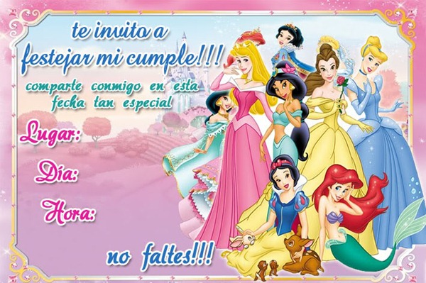 Feliz cumpleañoz princesa