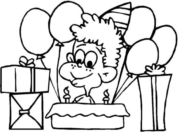 Imágenes para colorear de cumpleaños.
