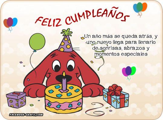 Imágenes para felicitar un cumpleaños.