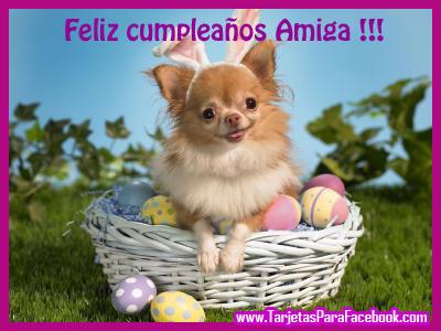 Imagen de felicitación de cumpleaños para facebook y twitter tiernas