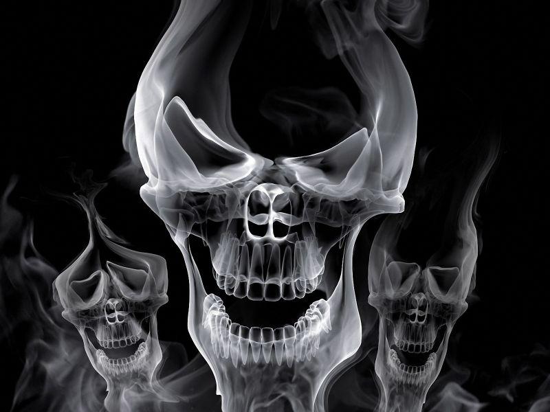 Imagenes de calaveras humo