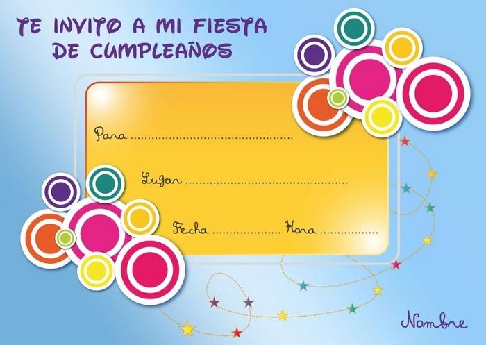 Tarjetas De Invitación De Cumpleaños Para Imprimir De