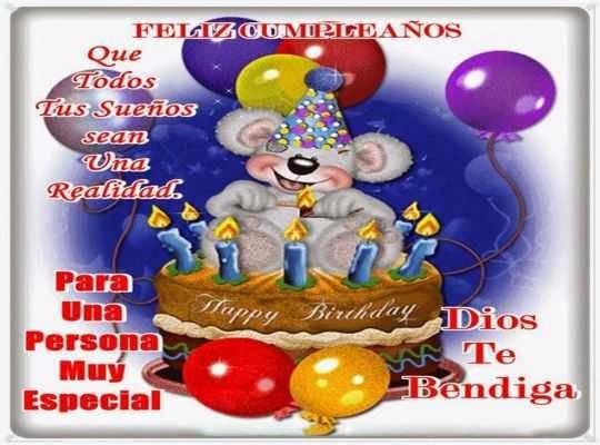 Mensajes de felicitacion de cumpleaños