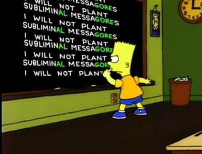 Mensajes subliminales Bart Simpsons