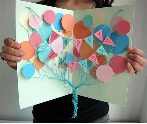 Идея для открытки на день рождения маме