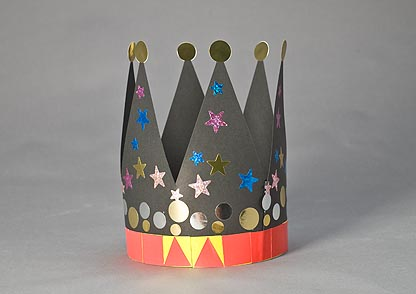 Pasos para hacer una corona de cumpleaños.