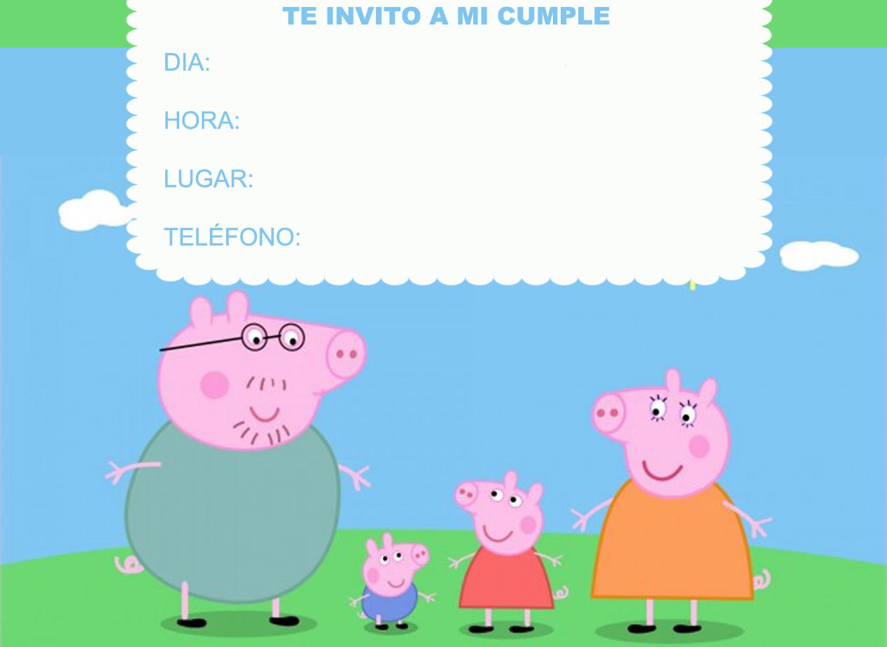 Targetitas de cumpleaños peppa pig