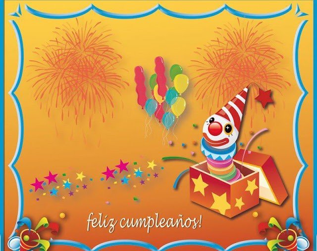 Tarjeta feliz cumpleaños para regalar