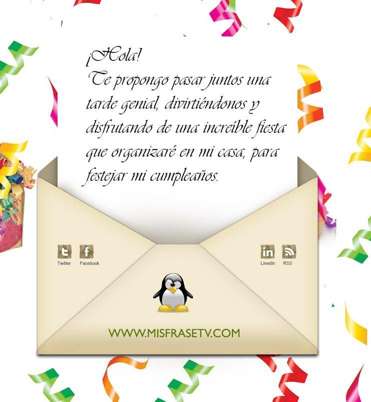 Dedicatoria Cumpleaños Para Tarjetas De Invitaciones Imagui
