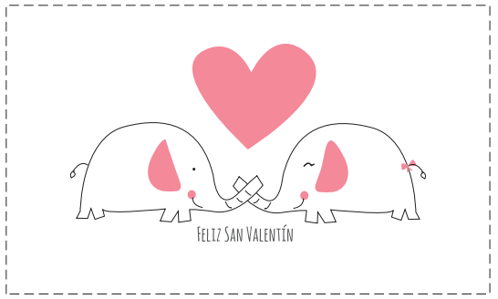 Tarjetas para imprimir san valentin