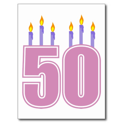 Tarjetas postales de cumpleaños 50